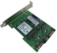 SATA III Dual Port to mSATA X 2 with PCI-e Bracket