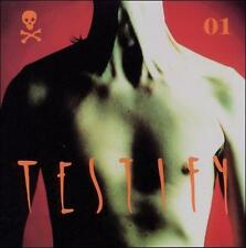 """TESTIFY """"TESTIFY 01"""" USED CD IN EXCELLENT CONDITION. INDUSTRIAL/METAL  .99c SALE"""