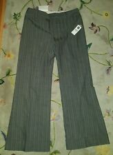 NWT Gap Wide Leg Grey with Pink Striped Pants - 12A