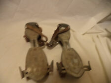 Vintage Pair Metal Roller Skates Speed King Hustler Corp Sterling ILL Patent