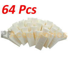 64 Pcs Wonder Wedge Makeup Cosmetic Wedges Triangle Facial Sponge White Foam NEW
