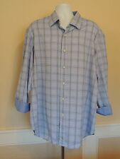 Tailorbyrd Plaid Shirt    Flip Cuff - Excellent !   Mens 2XL  XXL