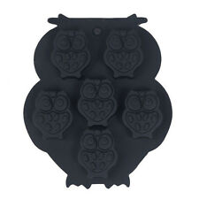 6-Owl Silicone Chocolate Decorating Mould Cake Baking Mold Candy Cookies Tool