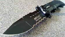 """8.75"""" MTECH TACTICAL SPRING ASSISTED FOLDING KNIFE Blade pocket open switch"""