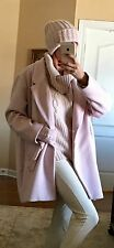NWT Beautiful Pink Oversized Wool Blend Coat With Hat Size XXL