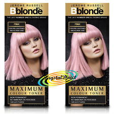 2x Jerome Russell BBlonde Pink Color Maximum Colour Toner 75ml Non Permanent