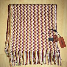 BNWT Missoni Zig Zag Luxurious Long Scarf Wool Blend - Made in Italy RRP £180