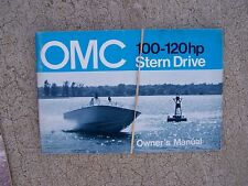 1973 OMC Stern Drive Owner Manual 100 120 HP  MORE MANUALS IN OUR STORE  S
