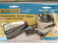 BILGE PUMP SEACHOICE 19201 JOHNSON PUMP 500GPH AND FLOAT SWITCH AUTOMATIC PUMP