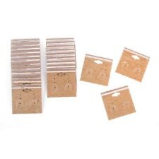 Jewelry DISPLAY CARDS HOLDERS for EARRINGS Kraft PLASTIC 24 pc