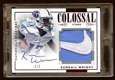 KENDALL WRIGHT AUTO *NIKE* LOGO PATCH #D 2/2 NATIONAL TREASURES AMAZING TITANS