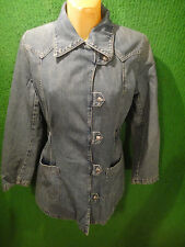 WomEn's Levi Strauss Denim Fitted 2 Pocket Front SNAP Up Jacket Coat Medium