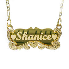 "Gold Name Necklace ""Carrie"" 18 Gold Plated Personalized Nameplate Necklace"