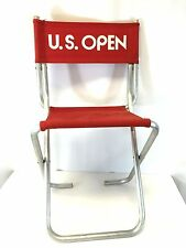 vintage red US OPEN tennis chair courtside retro folding