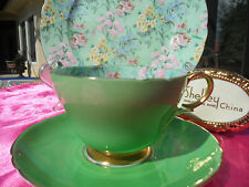 Shelley MELODY CHINTZ  HENLEY SHAPE  CUP,  SAUCER AND PLATE  #13594 GOLD TRIM