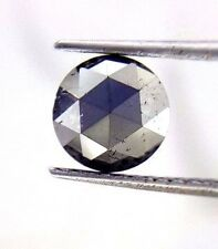 0.81 Cts 6.8 MM Round Rose cut Jet Black AAA Color African Natural Loose Diamond