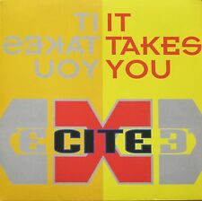 "X-Cite - It Takes You: 2 Versions (12"" Vinyl Maxi-Single Germany 1994)"