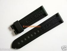 Panerai Black Rubber Strap for Luminor 44mm for Deployant Buckle New !