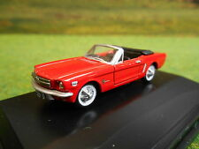 OXFORD 1965 FORD MUSTANG CONVERTIBLE POPPY RED 1/87 87MU65001