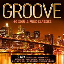 Groove - 60 Soul & Funk Classics - New 3 x CD - Pre Order - 8th April