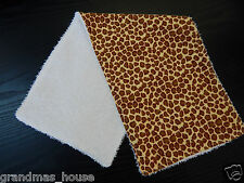 Leopard Print Flannelette Burp Cloth - 1 Only Towelling Back GREAT GIFT IDEA!!
