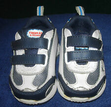 Size 2 baby boys white & navy blue THOMAS & FRIENDS athletic shoes