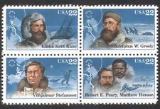 USA 1986 Polar Explorers/Ships/Dogs/Transport/People/Exploration 4v blk (n39030)