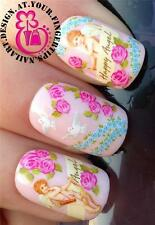 NAIL ART WRAPS WATER TRANSFERS STICKERS DECALS DECO SET ANGELS DOVES ROSES #267
