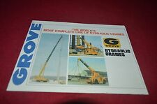 Grove Hydrualic Cranes Buyers Guide For 1977 Dealer's Brochure DCPA6