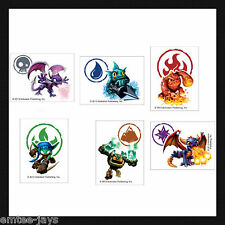 SKYLANDERS TATTOOS x 12 pieces BIRTHDAY SUPPLIES, Loot Bag, Party Favours