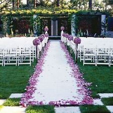 Wedding Aisle Runner Marriage Ceremony White Bridal Mat Indoor Outdoor 100ft