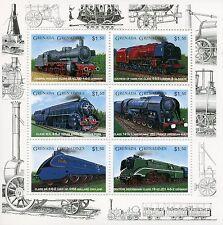 Grenada Grenadines 1996 MNH Trains 6v M/S II Züge Treni Chemin de Fer Stamps