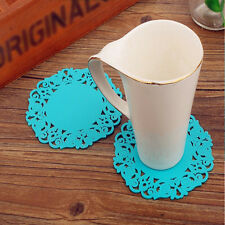 Blue Coaster Coffee Tea Drink Cup Silicone Tableware Placemat Coaster Pad