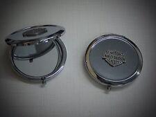 Harley Davidson Bar & Shield Compact Makeup Travel Mirror