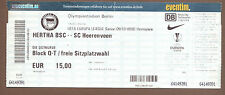 Orig.Ticket  Europa League  09/10   HERTHA BSC BERLIN - SC HEERENVEEN  !!