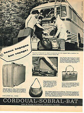 PUBLICITE ADVERTISING 044  1961   CORDOUAL-SOBRAL-BAT   bagages sacs