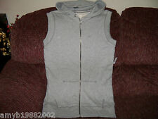 Aeropostale Light Gray Tunic Sleeveless Hoodie W/Drawstring Size L Women's NEW