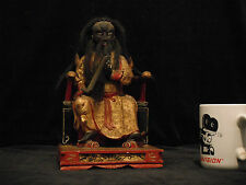 Qing Dynasty Fa Chu Kung #4 Heavenly Marshal Zhang Taoist Deity Wood Gold Gilt