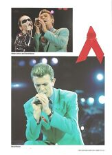 DAVID BOWIE with Annie Lennox  magazine PHOTO/ Poster/clipping 11x8 inches