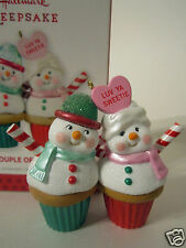 Hallmark Ornament 2013 A Couple of Cupcakes #QXG1882 NEW