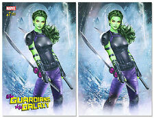 ALL NEW GUARDIANS OF THE GALAXY #1 NATALI SANDERS Exclusive Colour & Virgin Set