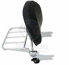Mutazu Detachable Backrest Sissy Bar w/ luggage rack for HD Harley Touring 97-08