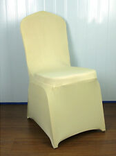 Stretch Banquet Chair Covers Cases Wedding Party Decor Foldable cream color