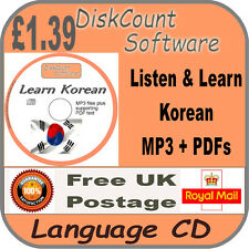 Listen & Learn Korean Language Courses CD  mp3 audio & text