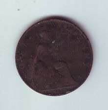 1907 Great Britain Penny UK Coin Q-562