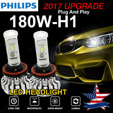 18000LM 180W H1 LED Headlight Bulbs PHILIPS Lamp Conversion Kit 6000K Canbus USA