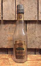 Rare Antique H.J. HEINZ Co. Tomato Ketchup Glass Bottle Pat. 1890 Label & Cap
