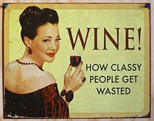Funny Vintage Tin Sign Retro Wine Wall Art Bar Pub Home Office Decor Ship Free