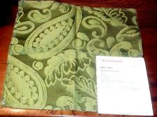 SCALAMANDRE Fabric Remnant - ANGELIQUE PAISLEY 05 - EMBROIDERED LAMPAS - $387yd