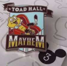 Toad Hall Mayhem Disney Mascots Mr Toad's Ride Mystery DLR Ride Pin Buy 2 Save $